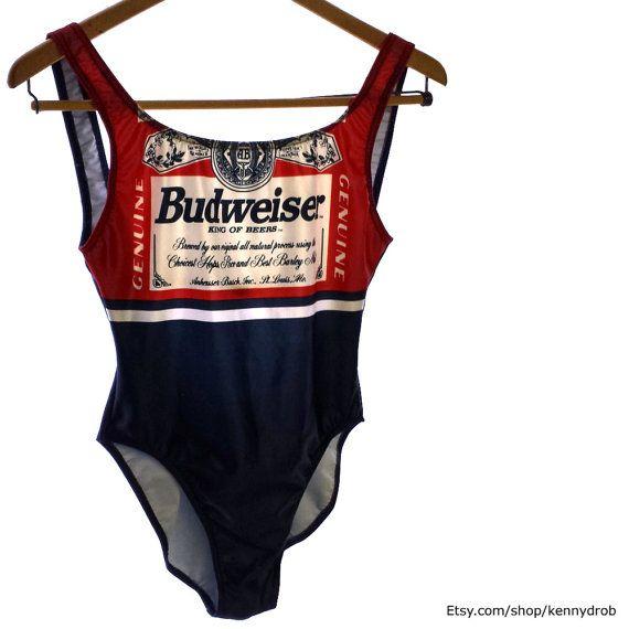 1c80e1045321f Vintage 90s Budweiser Beer High Cut Open Back One by kennydrob ...