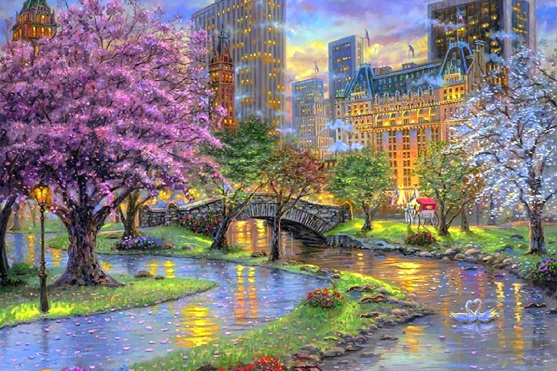 Картинки на тему город весной