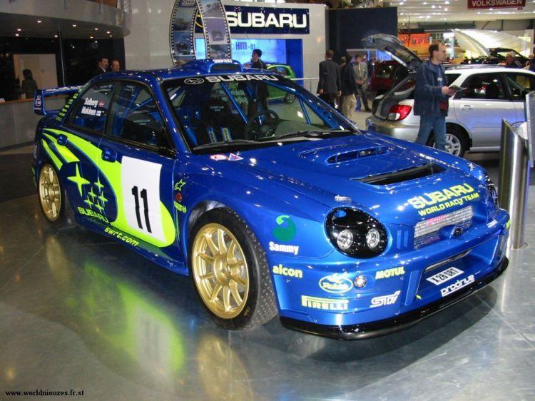 Fonds D écran Voitures Subaru Wrc Geneve 2002