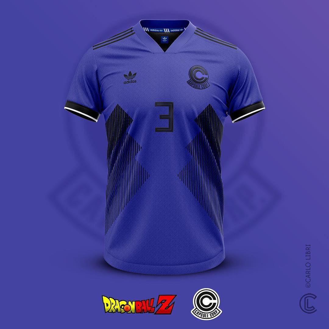Designer Cria Camisas De Futebol Do Dragon Ball Z Futebol