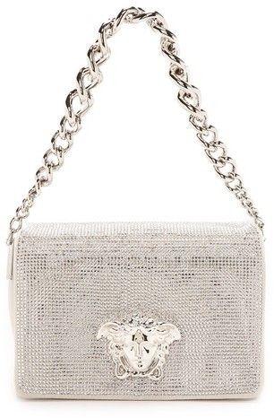 77377f0c62 Versace Swarovski Crystal Clutch w Chain Versace Purses