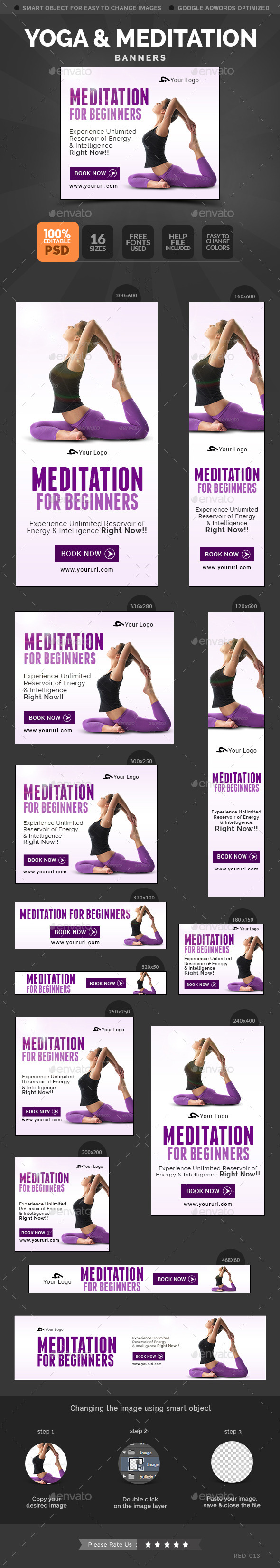 Yoga Meditation Banners