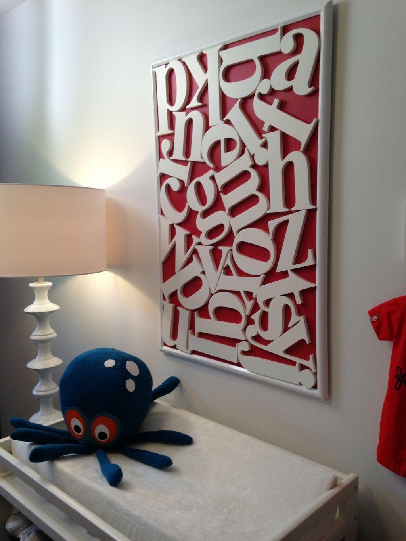 Property Brothers Wooden Alphabet Google Search Kids Room Wall Art Modern Kids Decor Baby Nursery Design