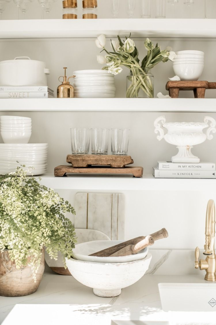 Open Shelving in the Kitchen  Home decor accessories, Cheap home