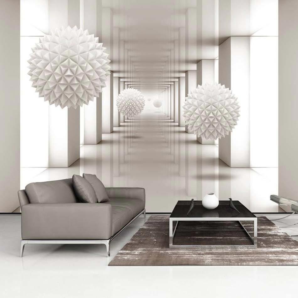 papier peint 3d cr ant un effet abstrait et trompe l il saisissant papier peint 3d tromp e. Black Bedroom Furniture Sets. Home Design Ideas