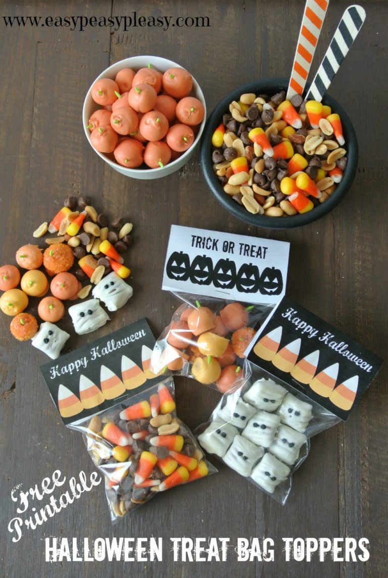 free printable halloween treat bag toppers | my favorite holiday