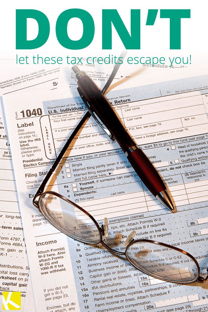 Don't Overlook These Tax Credits!
