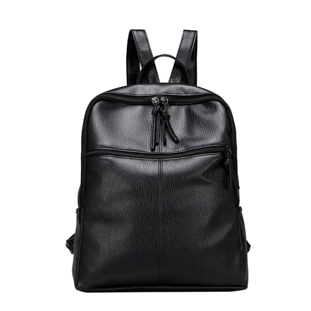 83c79131fb83 School Bags Backpack Women Black Wateproof Backpacks PU Leather Backpack  Female School Bags Mochila Escolar For Adolescent Girls
