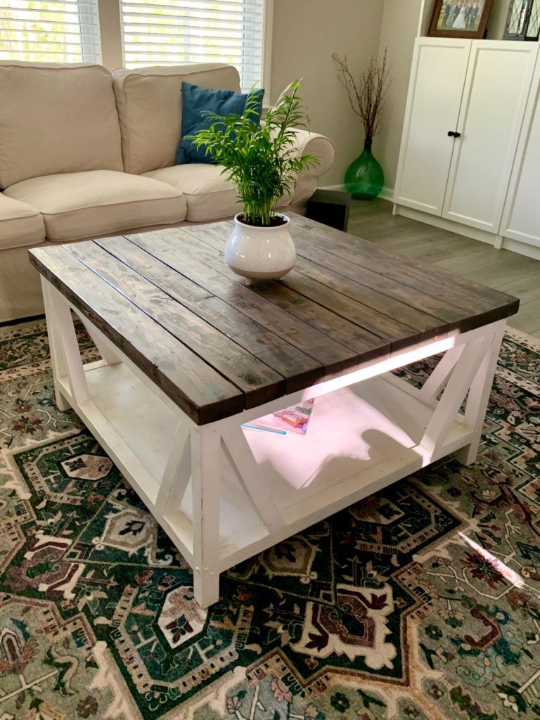 Photo of DIY Farmhouse Coffee Table | The Regular Folks