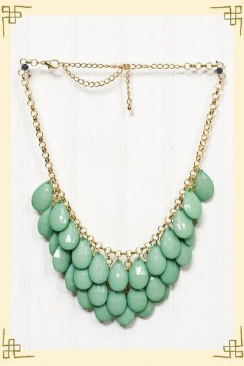 my style. / Dropping In Necklace in Green - Francesca\'s Collections ...
