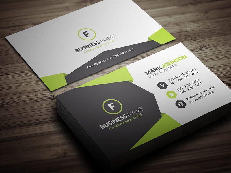 Geometric Style Corporate Business Card Template Cp00021 Jpg 800