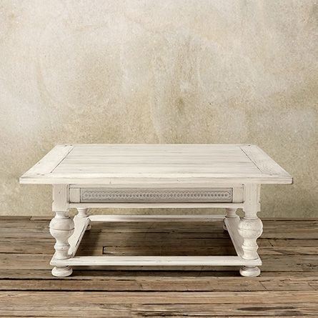 Ellington 48 Square Coffee Table In Bleached Oak Great Room