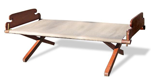 wooden folding cot - Google Search | Campaign furniture