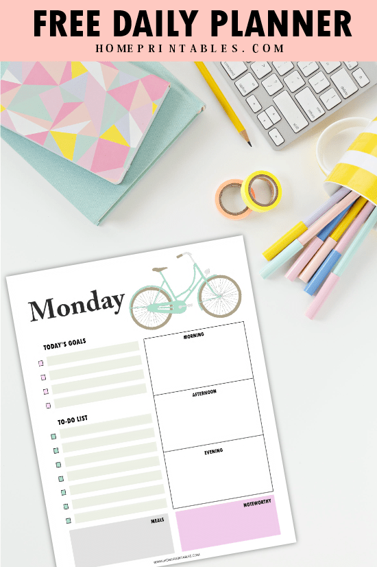 picture relating to Dailyplanner titled No cost Printable Everyday Planner: Eye-catching and Effortless