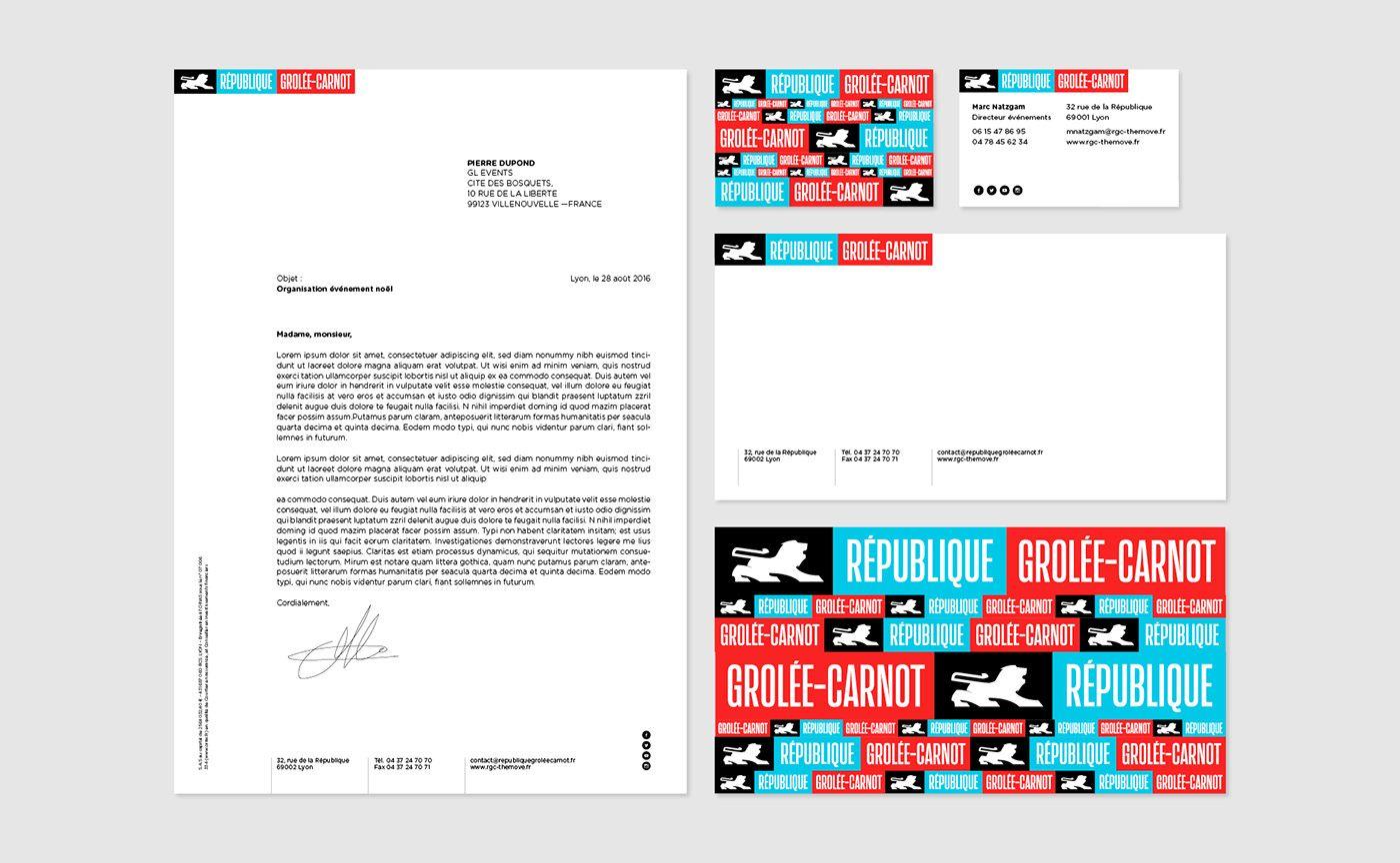 Republique Grolee Carnot Brand Design On Behance Branding Design Behance Best Logo Design