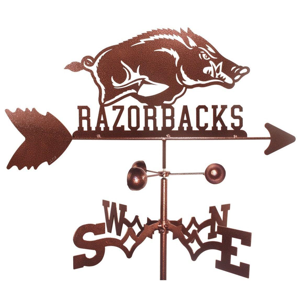 Arkansas Razorbacks Weathervane (Garden Mount), Brown copper (Steel), Outdoor Décor