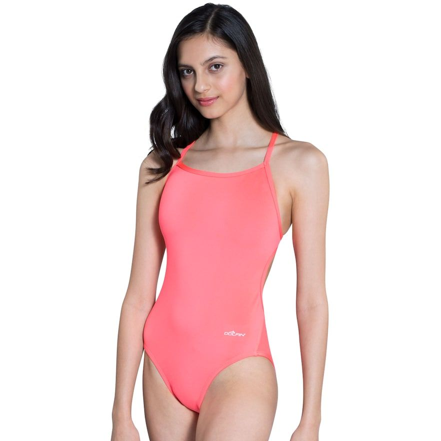 Women's Dolfin Competitive One-Piece Swimsuit, Size: 34 Comp, Orange Oth