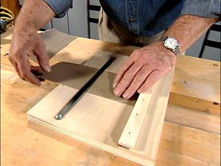 View this quick video tip demonstrating how to make sandpaper cutter that will make your sandpaper cutting easy and precise.