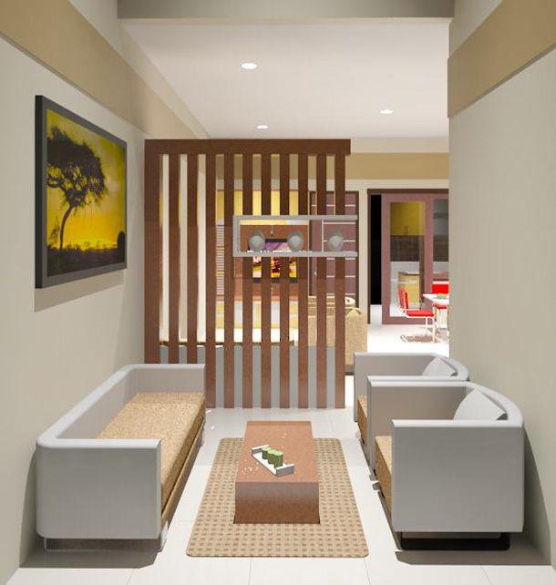 Interior Ruang Tamu Pada Desain Rumah Minimalis Type