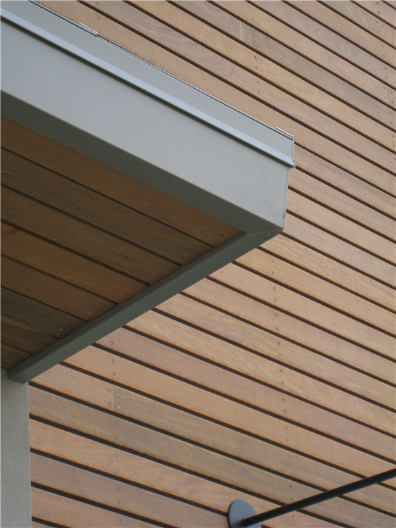 Detailed Photo Of Nike Retail Store Showing Face Screwed S4s Ipe Boards Wood Siding Exterior Wood Siding Roof Design