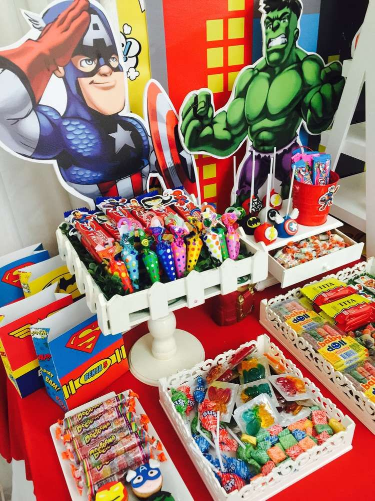 Super Heroes Birthday Party Ideas Cumple Pinterest