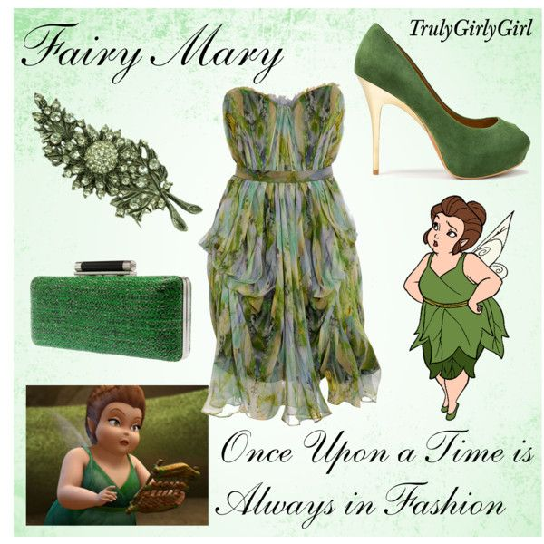 Disney Style: Fairy Mary, created by trulygirlygirl on Polyvore