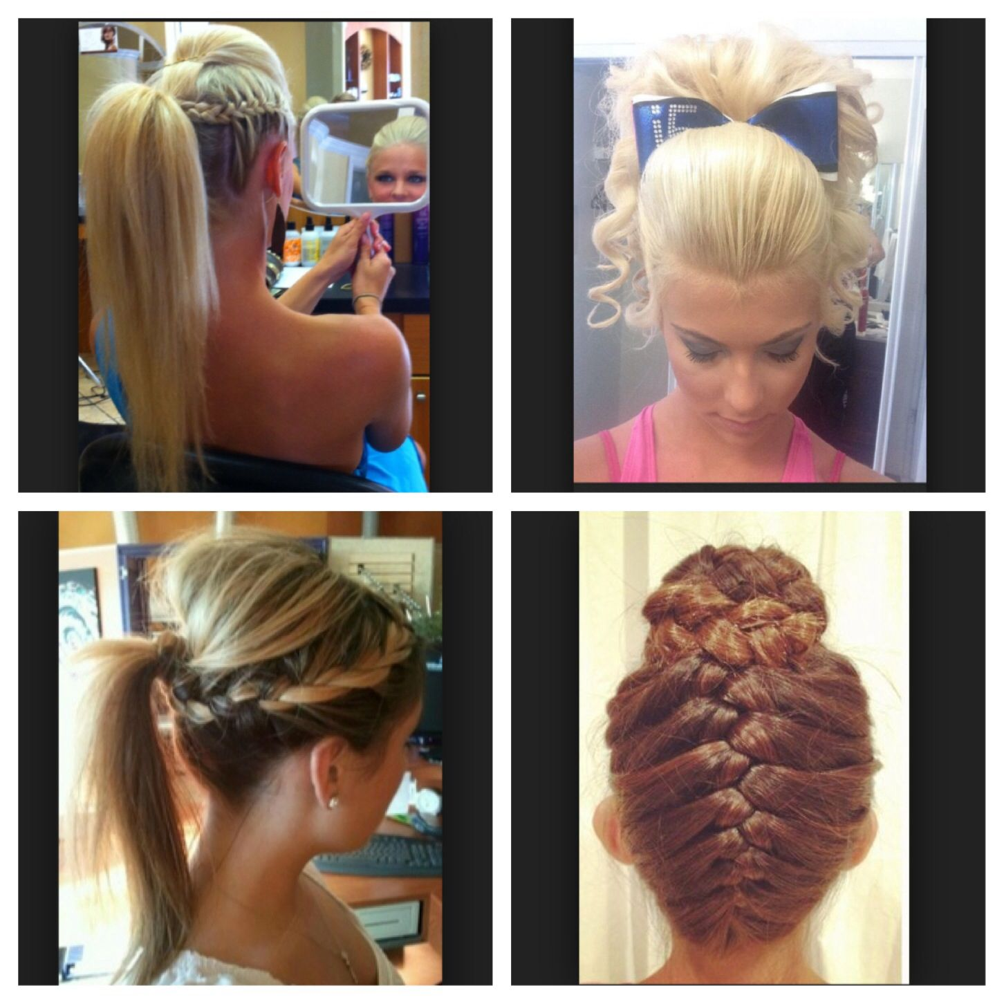 cheering competition hair styles | hair | competition hair