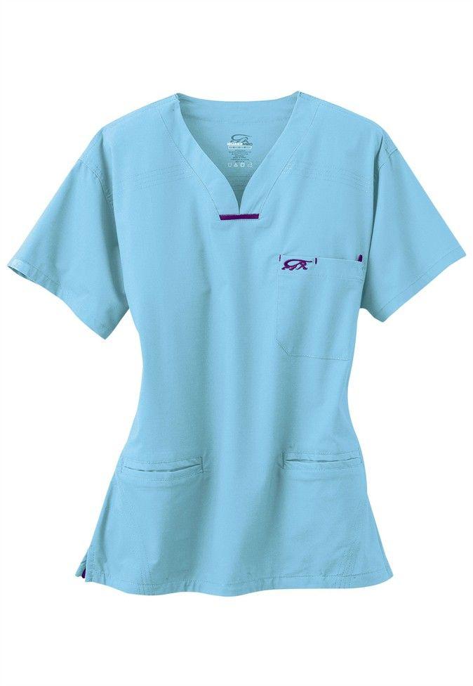 6487721ed15 IguanaMed quattro scrub top #scrubsandbeyond #stretch #scrubs ...