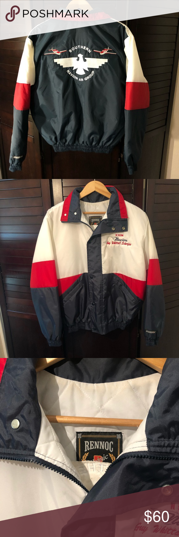 Vintage Rennoc Classic Navion Air Group Jacket Jackets