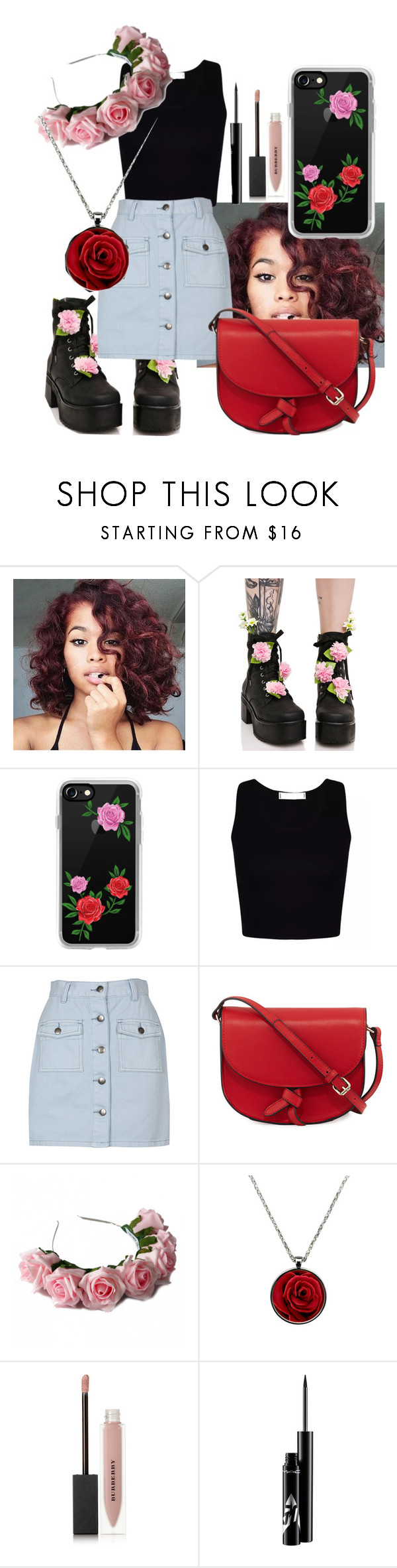 """""""Rose"""" by fashionxx1 ❤ liked on Polyvore featuring Sugarbaby, Casetify, MINKPINK, KC Jagger, Zara Taylor and Burberry"""
