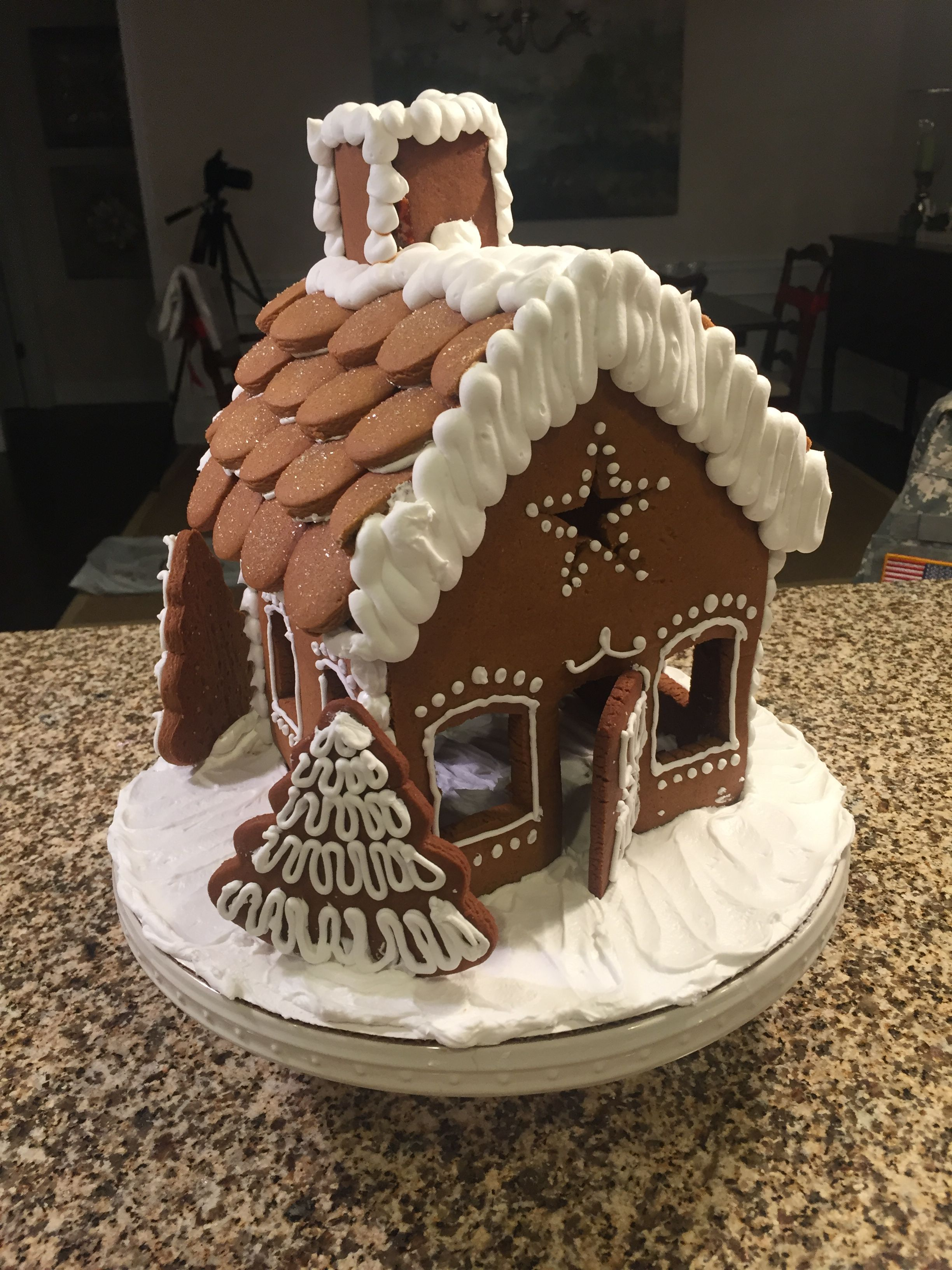I Used Mary Berry S Gingerbread House Recipe And Template To Create My Version Of This Cute Gingerbread Gingerbread House Recipe Gingerbread House Gingerbread