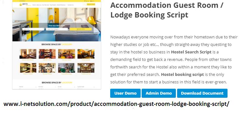 Accommodation Guest Room Lodge Booking Script Hostel Script