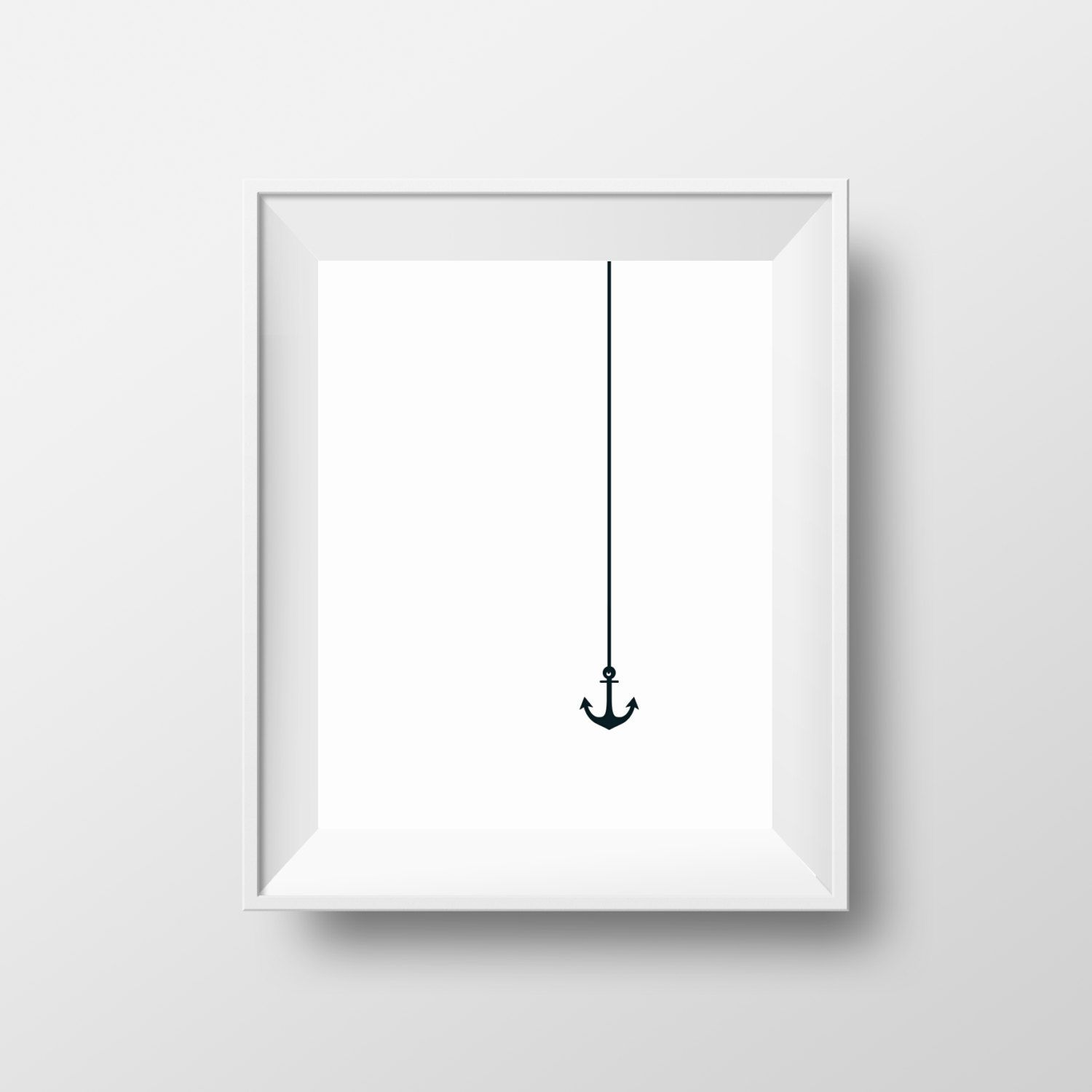 Anchor Print, Sea Anchor, Sailor Posters, Black And White Poster, Minimal  Print