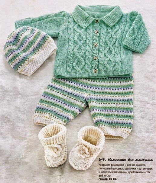 Модели вязания со схемами и описаниями: Детский комплект | вязание ...