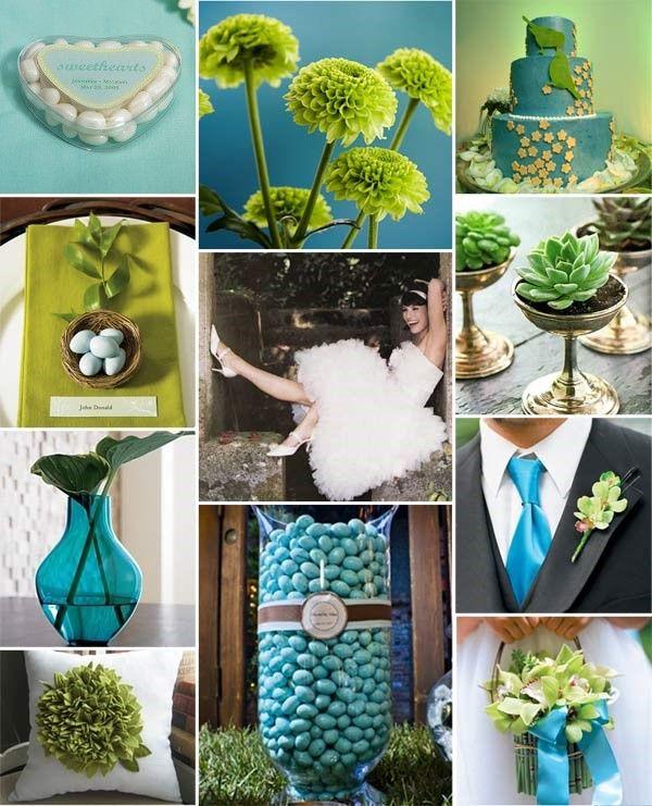 1000 idées sur le thème Déco De Mariage Vert Anis Et Bleu ...