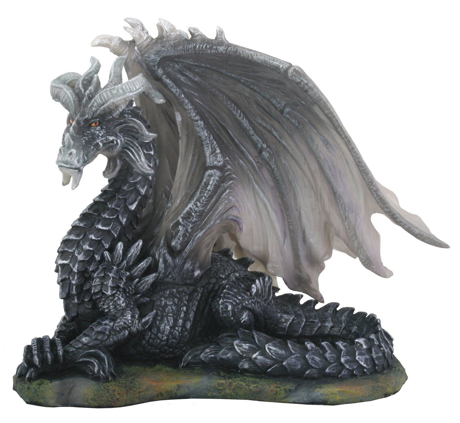 Dark Dragon (Black) Collectible Serpent Figurine Sculpture Statue Art >> Discover this special product, click the image : Christmas Decorations
