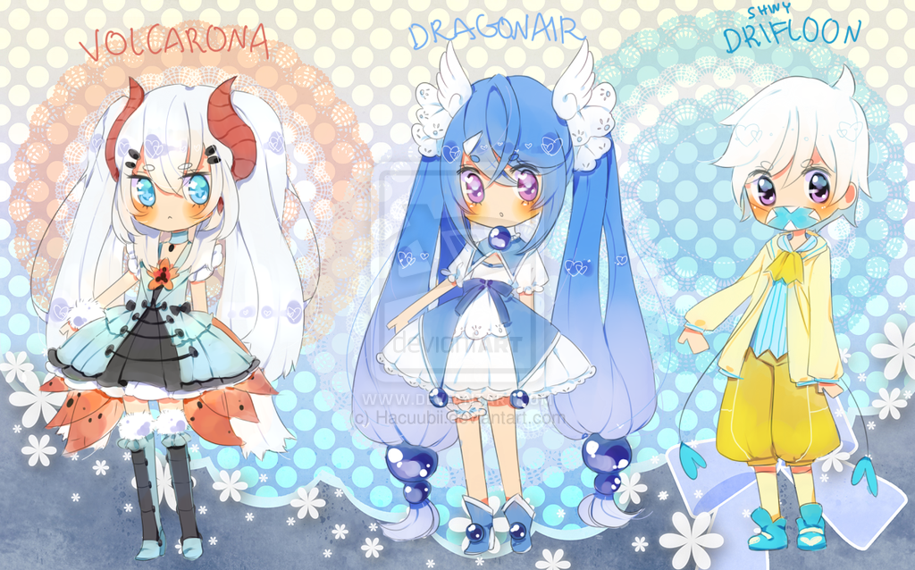 Pokemon Puella 6th Batch{paypal}{closed} by Hacuubii on