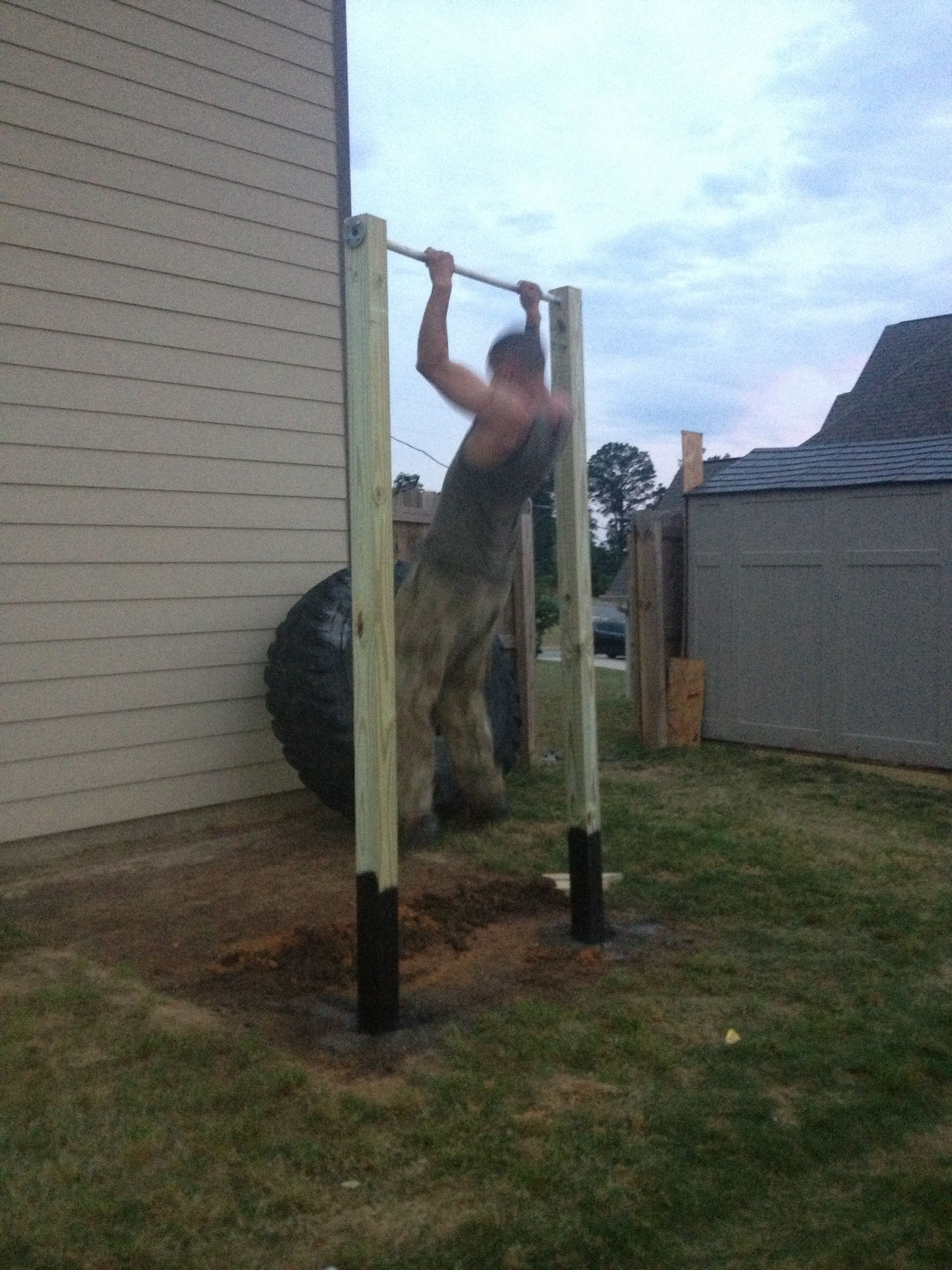pull up bar i built in my back yard fit pinterest pull up