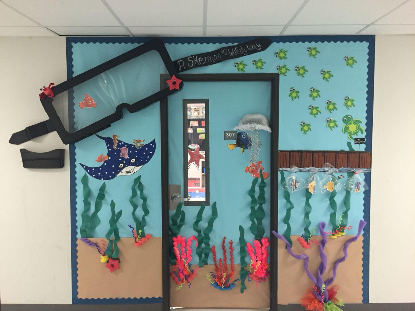 Classroom Board Decoration Ideas : Finding nemo classroom door boards pinterest