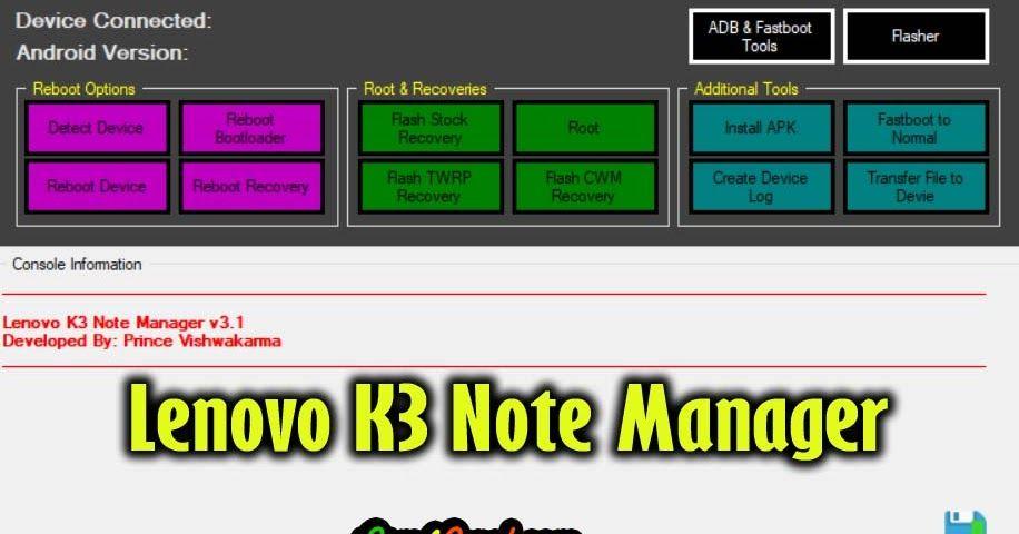 Lenovo K3 Note Manager Tool Root Lenovo K3 Note on Marshmallow Free