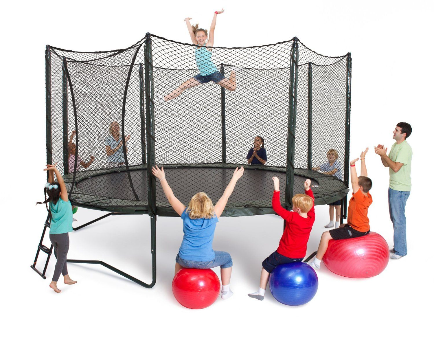 Alleyoop 14 variablebounce trampoline with integrated