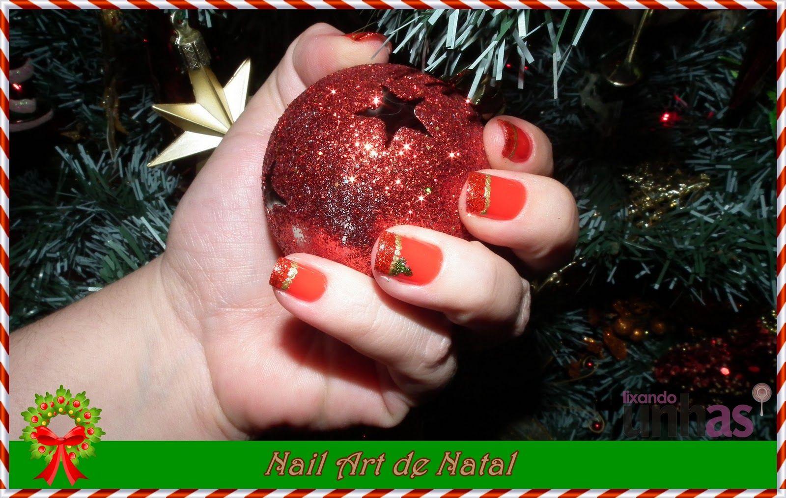 Nail Art de Natal