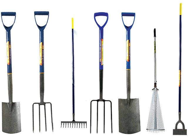 Border digging garden spade shovel fork dutch hoe for Garden fork and spade set