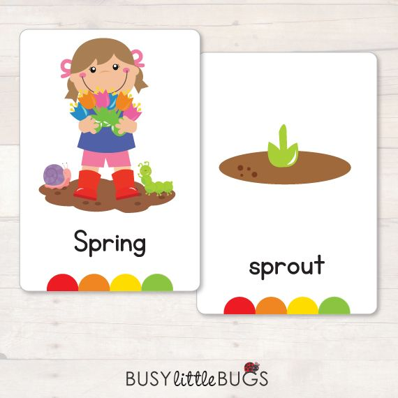 A great little set of Spring flash cards for literacy learning fun!