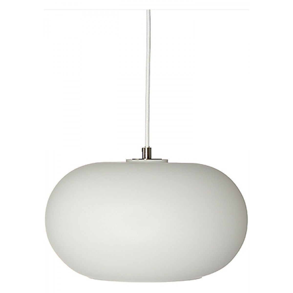 iconic lighting. FRANDSEN Kobe Opal White/Satin Pendant Lamp Iconic Lighting I