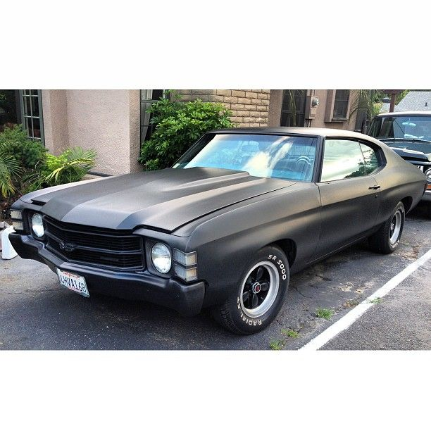 1971 Chevelle. New paint job on my Chevy chevelless ss american muscle matte black flat painted bumpers