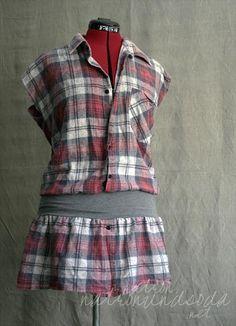 363ff03b26b377 Hemd goes Kleid   upcycling kleidung   Kleid nähen, Altstoff ...