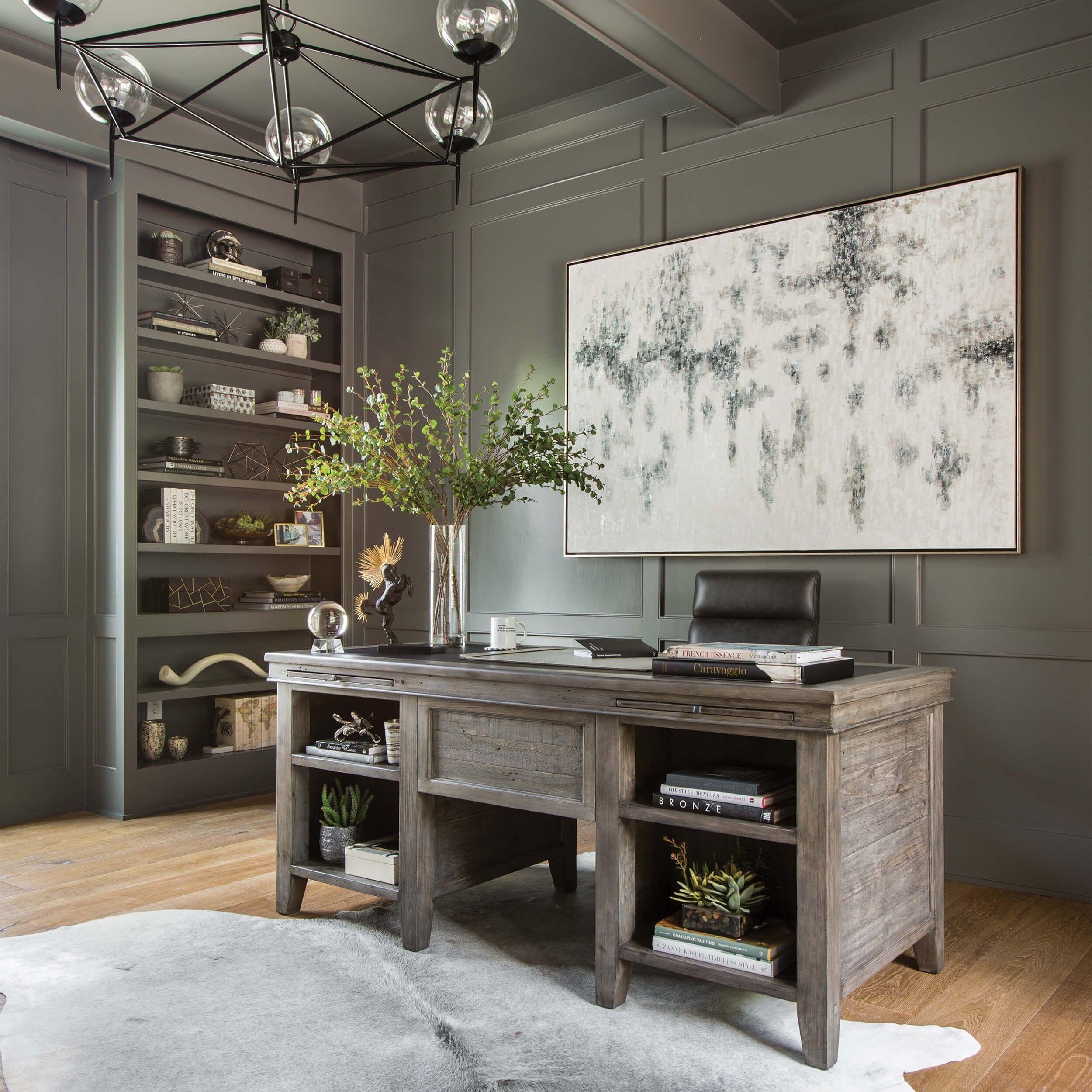 Irish coast desk black olive home office decor home