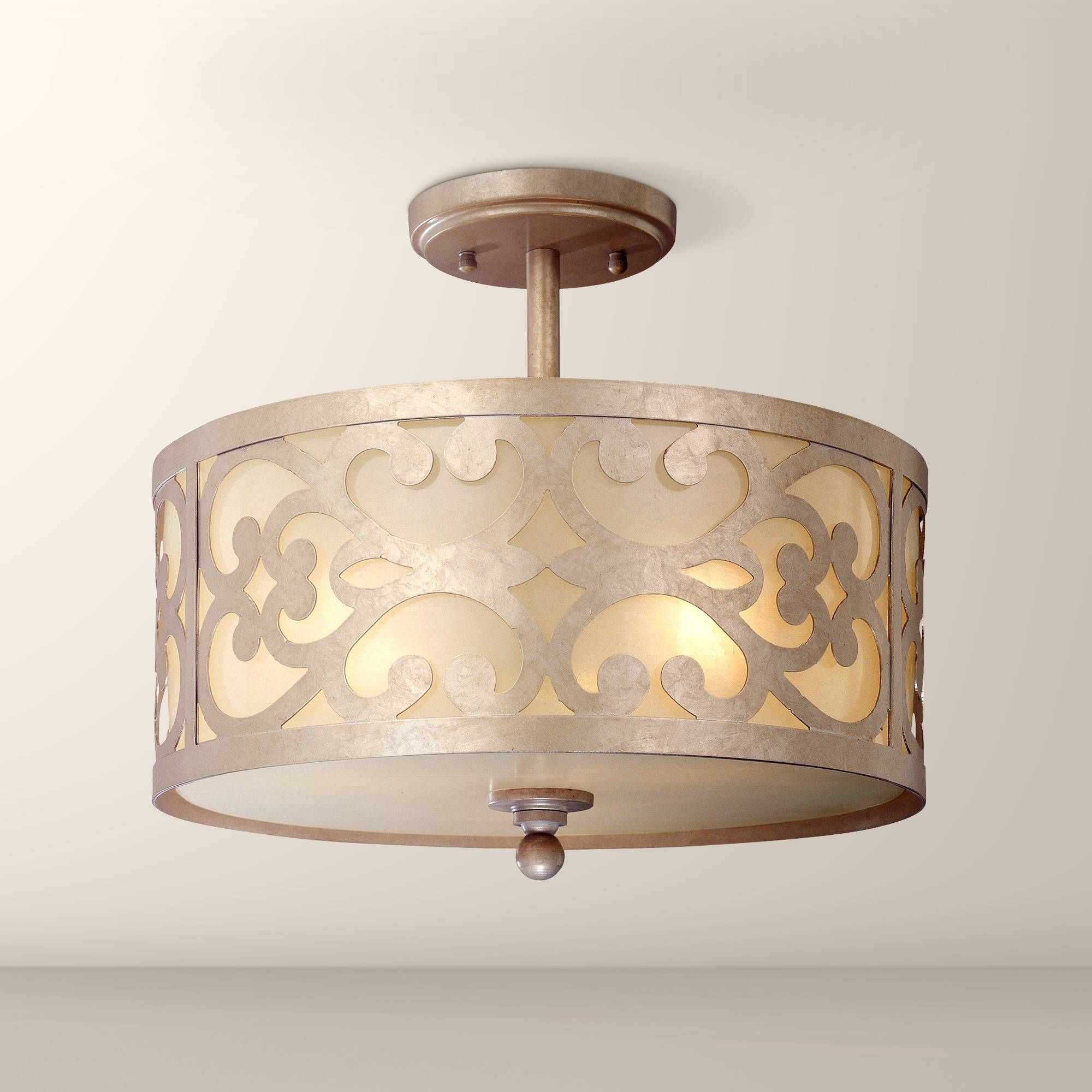 """Nanti Collection Champagne Silver 14"""" Wide Ceiling Light - #K3403 