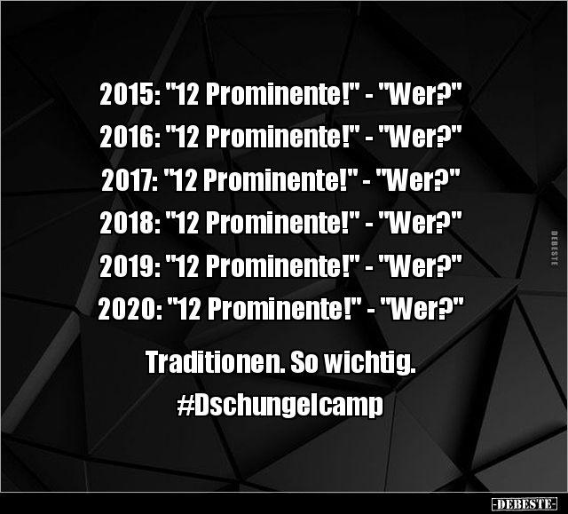 """2015: """"12 Prominente!"""" - """"Wer?""""... in 2020   Urkomische ..."""
